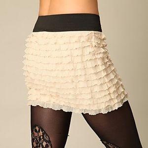 Free People Ruffle Mini Skirt